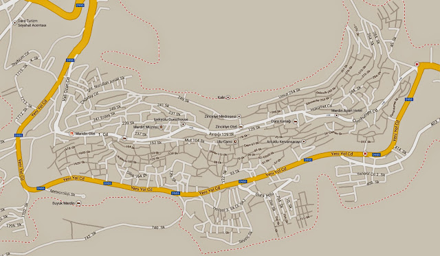 Mapa de Mardin – Turquia