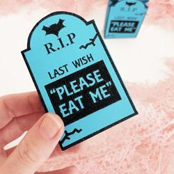 free halloween gravestone treat bag printable