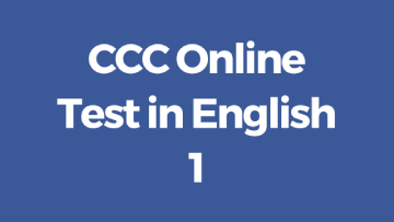 ccc online test in english set 1