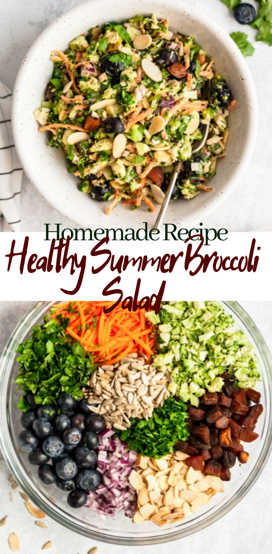 Healthy Summer Broccoli Salad #vegan #vegetarian #soup #breakfast #lunch
