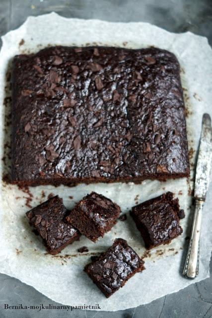 brownie, banany, czekolada, cukinia, deser, ciasto, bernika, kulinarny pamietnik
