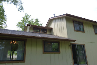 House in Lenexa, Kansas, with hardboard