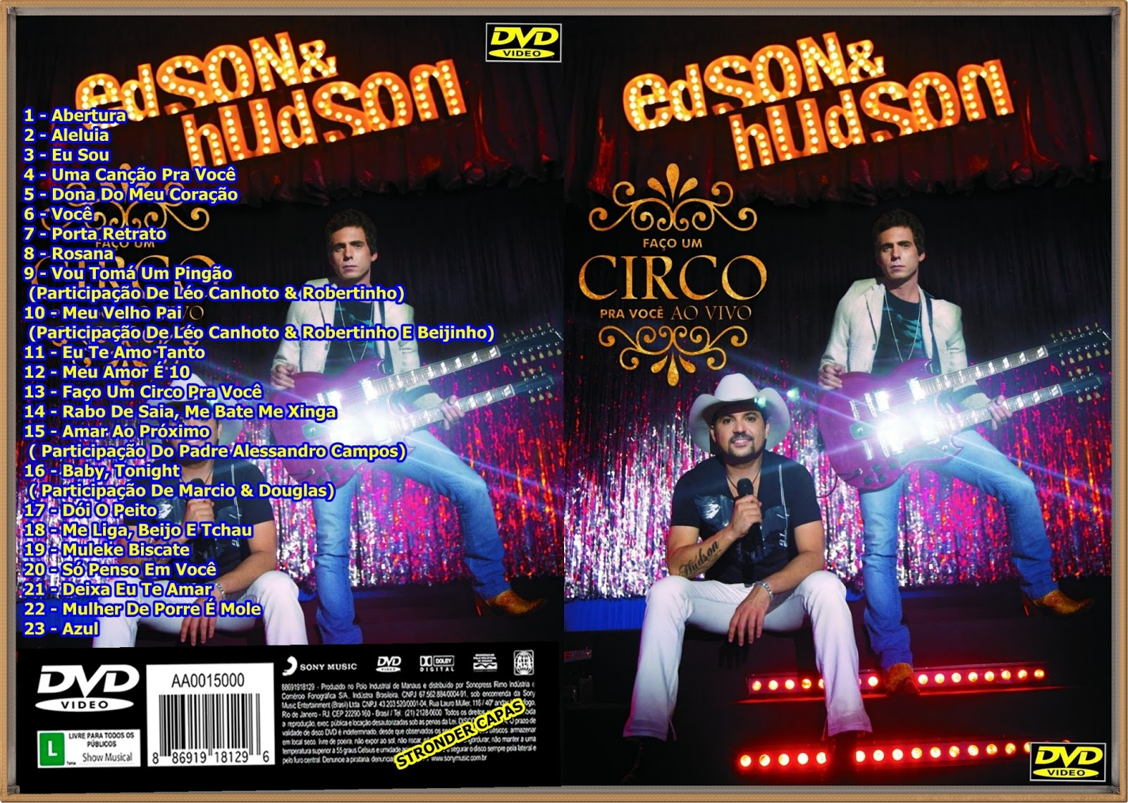 dvd edson e hudson fao um circo pra voce