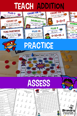 These Math Fact Fluency packs are designed using the mental math strategies. Research confirms that students learn the basic math facts if they learn them in the context of the mental math strategies. This not only helps them increase their math fact fluency, but they are understanding number sense and how the numbers are related to each other.