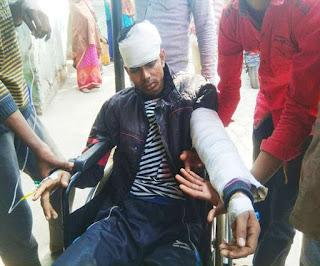 भोजपुर में छात्रा से छेड़खानी के बाद इंटर परीक्षार्थी की बीच सड़क पर पिटाई, फायरिंग के बाद रोड जाम