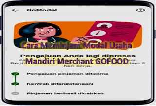 Cara Meminjam Modal Usaha Mandiri Merchant GOFOOD