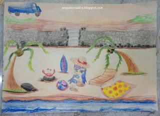 Lukisan Di Pantai Amal - Lukisan Maya