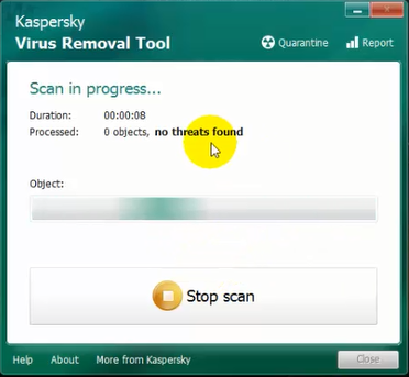 فحص الكمبيوتر وحذف الفابروسات بواسطة أداة kaspersky virus removal tool