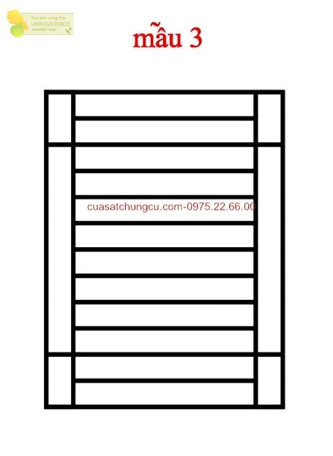 Mẫu thiết kế loại 3 khung cửa sổ an toàn, gọn gàng