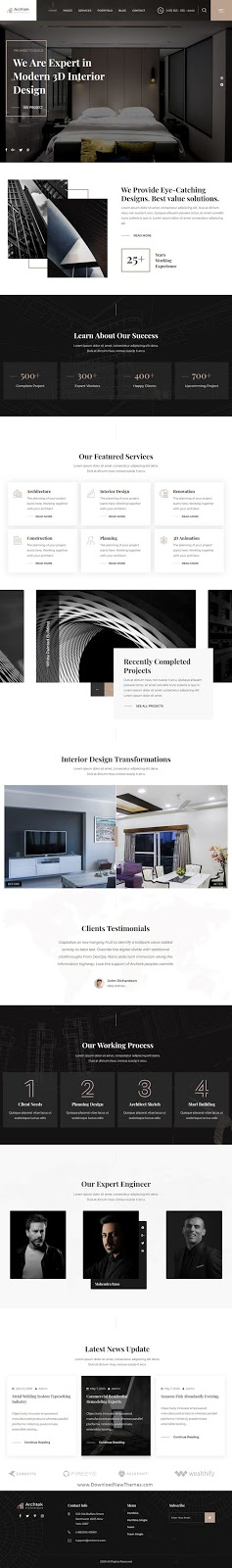 Download Architecture Interior Design WordPress Theme
