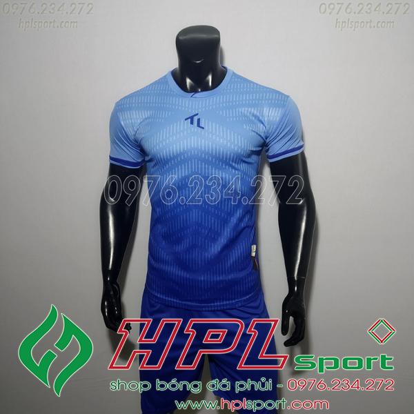Áo bóng đá không logo TL HML Rius Màu Xanh Nhạt