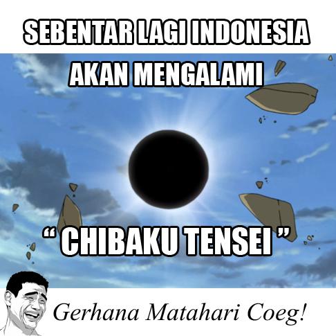 Lucu Meme Gerhana Matahari Total