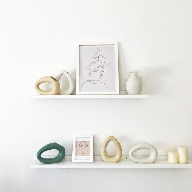 handmade slender donut vases