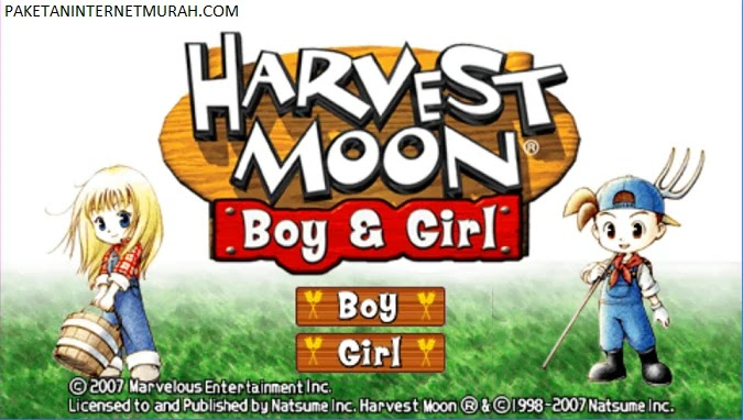 Harvest Moon Boy and Girl PPSSPP