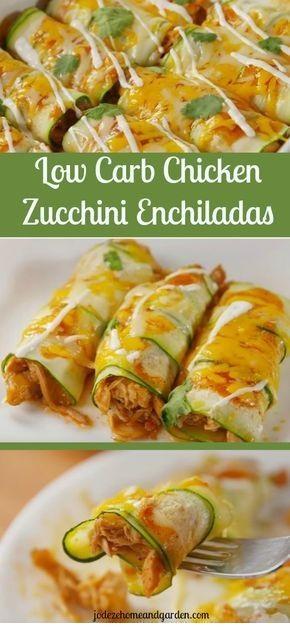 Chicken Zucchini Enchiladas – Low Carb Recipe