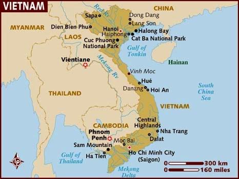 Peta Negara Vietnam