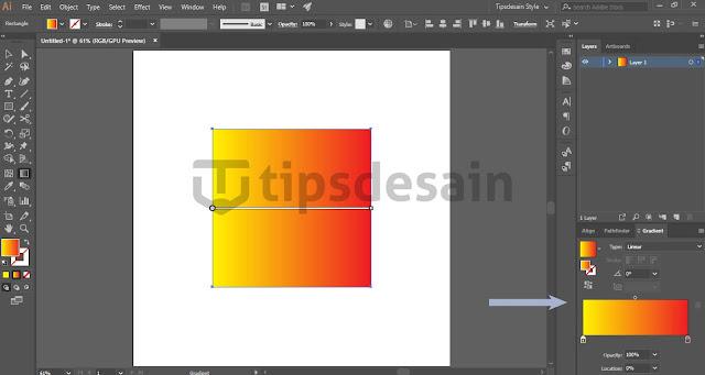 Menggunakan Gradient Tool di Adobe Illustrator CC 2018