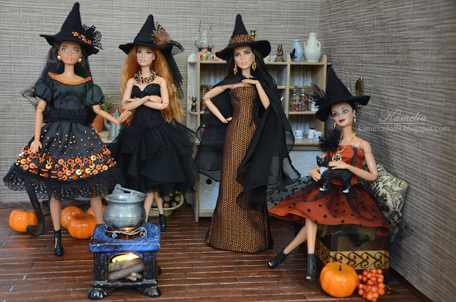 Halloween Barbie dresses
