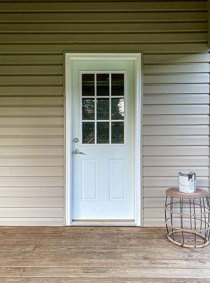 Shed door before