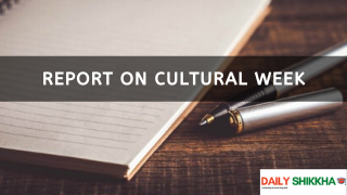 Report on Cultural Week
