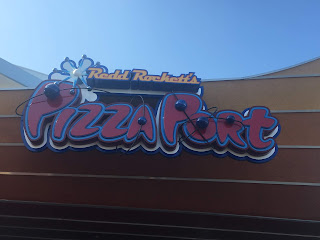 Redd Rocket's Pizza Port Sign Disneyland