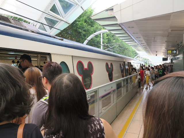 hong kong disneyland train