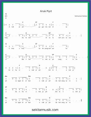 not angka anak pipit lagu daerah kalimantan selatan