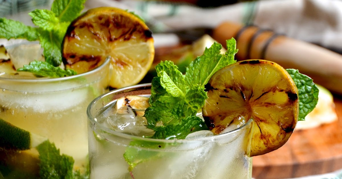 Grilled Lime Mojitos