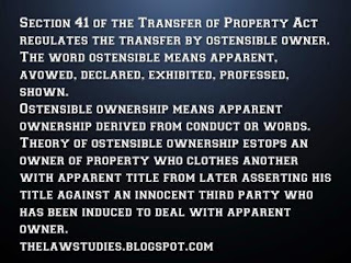 Ostensible owner under T.P act with case law studies