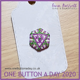 Day 262 : Jet - One Button a Day 2020 by Gina Barrett