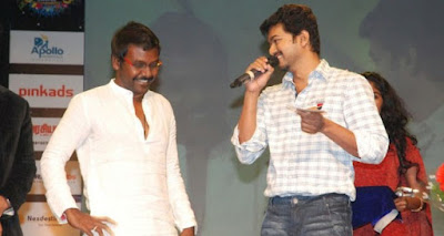 Director Cum Actor Raghava Lawrence and Ilayathalapathi Vijay Have Good Rapport