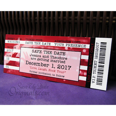 Concert ticket save the date