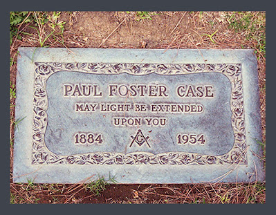 Paul Foster Case (1884 - 1954). Gravesite. Occultist and Freemason. Builders of the Adytum. B.O.T.A.