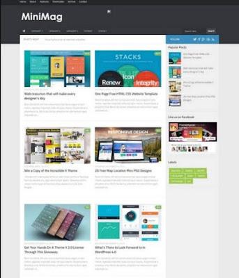 Download template blogger keren gratis terbaru 2017 minimag