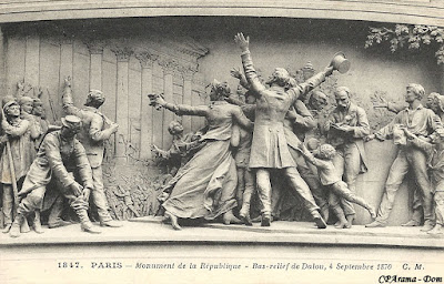 """Monument du """"4 septembre 1870"""" (détail)"""