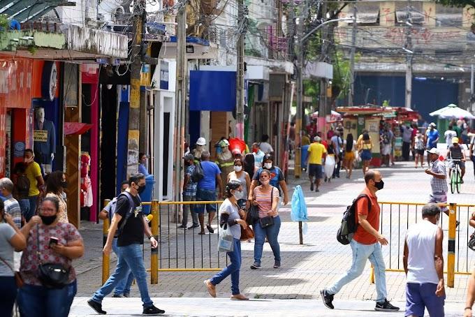 Flexibilização: Pernambuco amplia horário do comércio e outros serviços