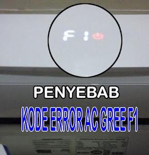 kode error ac gree F1, penyebab kode error F1 ac gree, cara mengatasi kode error f1 ac gree