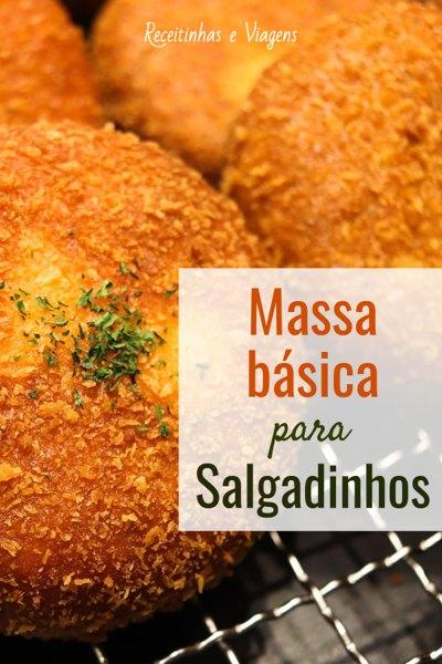 Como fazer massa basica para salgadinhos como coxinha, risole, croquete, enroladinho de queijo