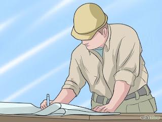 tukang bangunan yang dapat membaca gambar teknik bangunan