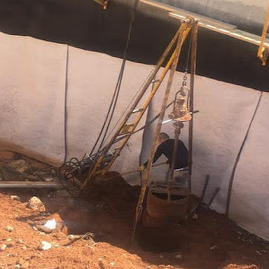 digging piles in hard-to-reach areas