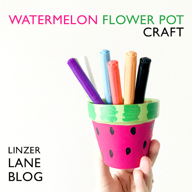 Watermelon Flower Pot Craft with artist Lady Lucas | Linzer Lane Blog