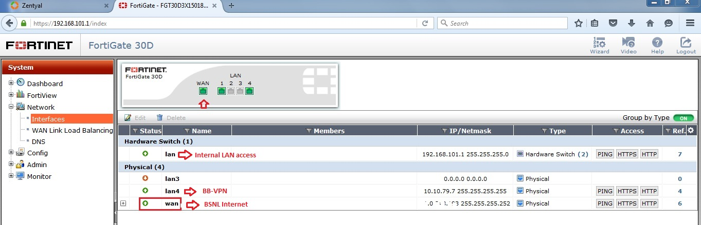 Basic IT Informations: Fortigate - How to setup basic LAN