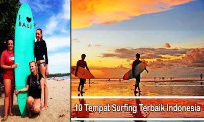 Tempat Surfing Terbaik Indonesia