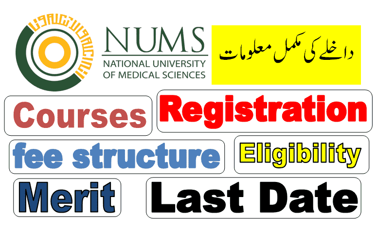 NUMS entry test registration date 2021 for admission