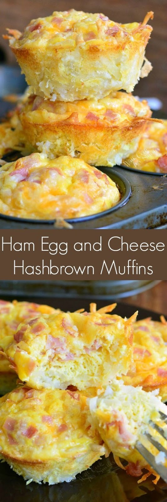 Ham Egg and Cheese Hash Brown Breakfast Muffins
