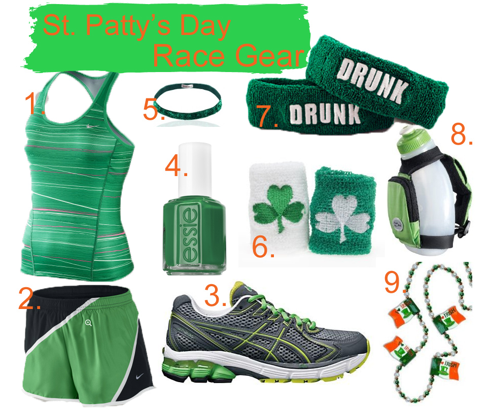 Sweating In Style Outfit Ideas St Pattys Day Racing