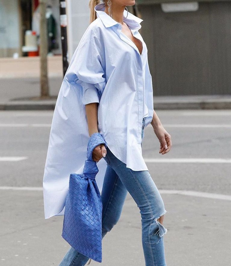 Oversized Shirts Are Casual-Cool for Spring