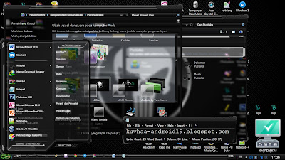 THEME WINDOWS 7 SKULL BLACK GLASS