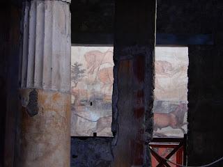 ポンペイ遺跡の壁画