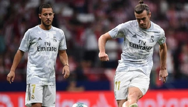 Bale and Hazard miss Real Madrid's group training